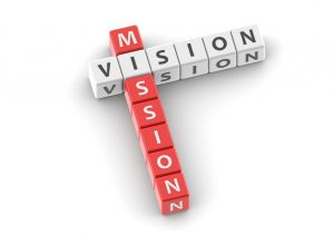 Mission vision image with hi-res rendered artwork that could be used for any graphic design.